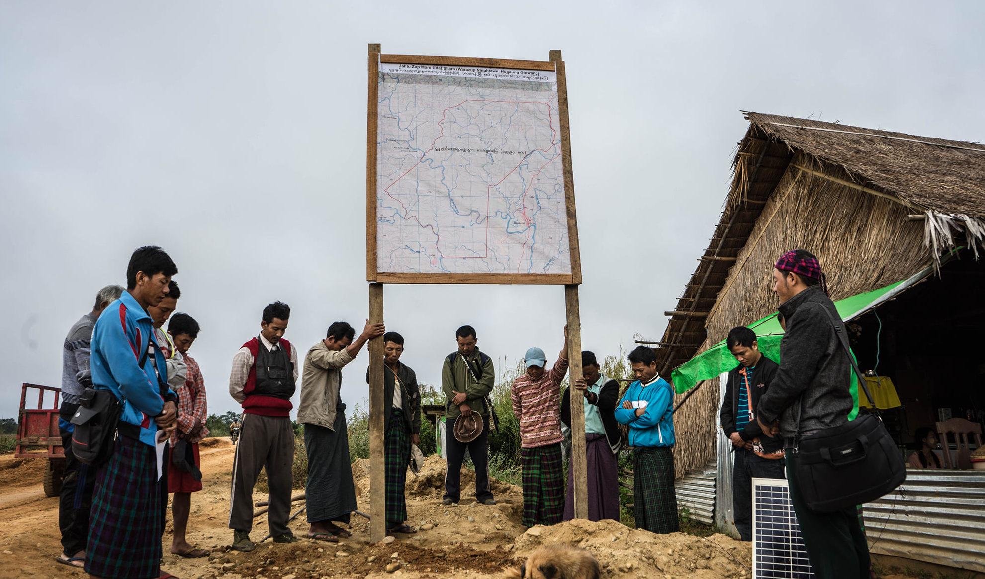 ဟူကောင်းဒေသခံများ ကိုယ်ပိုင်ကျေးရွာစားကျက်မြေ သတ်မှတ်