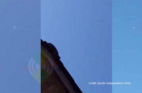 KIO ဗဟိုဌာနခ်ဳပ္ နယ္ေျမေပၚ ဂ်က္တိုက္ေလယာဥ္ ၁စီး အၾကိမ္ေပါင္းမ်ားစြာ ပ်ံဝဲ