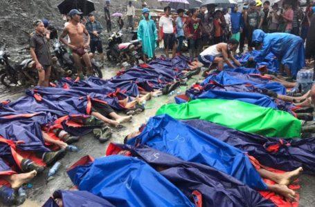 ဆူနာမီ ပုံစံ ဖါးကန့် ကျောက်စိမ်းတွင်း ပြိုကျမှုတွင် လူ ၁၂၀ ကျော် သေဆုံး