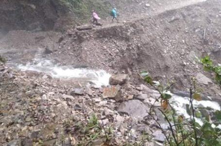 ပန်နန်းဒင်သွားလမ်း တောင်ပြိုမှုကြောင့် ပြတ်တောက်