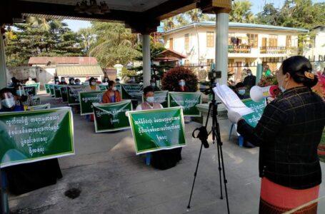 UEC ကို USDP ပါတီဝင်များ ဆက်တိုက် ဆန္ဒဖော်ထုတ်