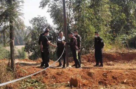 လွယ်ဂျယ် မြန်မာနယ်စပ်တွင် တရုတ်ဘက်မှ သံတိုင်စိုက်ထူလာမှုကို ကန့်ကွက်ထား