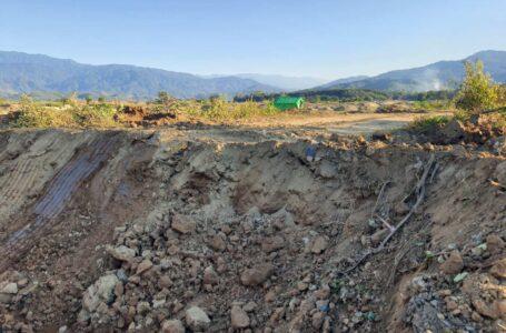 နမ်ဆန်ယန်ကျေးရွာလမ်း တပ်မတော်ကဖြတ်တောက်ပေးလိုက်မှု အမြန်ပြုပြင်ပေးရန် တောင်းဆို