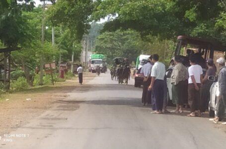 နမ္မတီးကျေးရွာအနီး အာဏာသိမ်းစစ်တပ်ယာဉ်တန်းကို KIA မိုင်းခွဲတိုက်ခိုက်