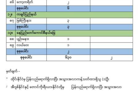 မြစ်ကြီးနားမြို့၊ကိုဗစ်အတည်ပြုလူနာ (၃)ဦး ထပ်တိုး