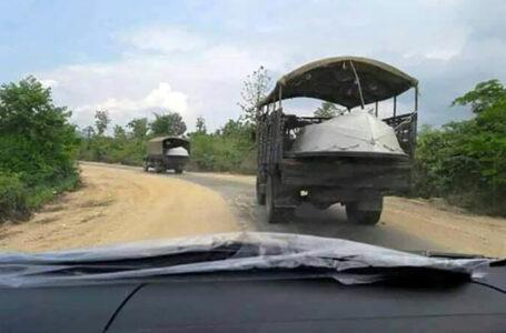 လိုင်ဇာမြို့အနီး အာဏာသိမ်းစစ်တပ်၏ ယာဉ်တန်းကို KIA ကြားဖြတ် တိုက်ခိုက်
