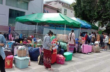 မူဆယ် နန်းတော်ပေါက်မှ မြန်မာ ရွှေ့ပြောင်းလုပ်သား ၂၀၀ ကျော် နေရပ်ပြန် ဝင်ရောက်လာ