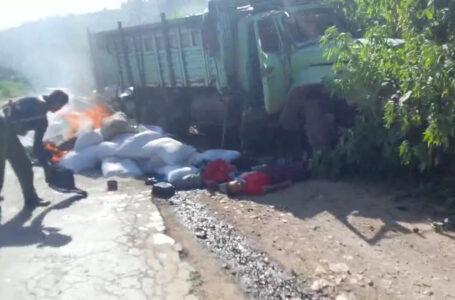 စစ်ကောင်စီ ရိက္ခာသယ် ကားတစ်စီး ဖောက်ခွဲ ဖျက်ဆီးခံရ