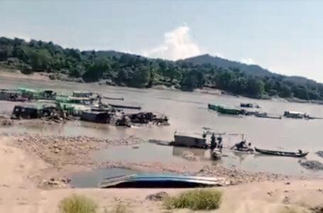 မြစ်ဆုံဒေသ စက်ယန္တရားကြီးများဖြင့် ရွှေတူးဖော်မှုကို ဒေသခံများ ကန့်ကွက်